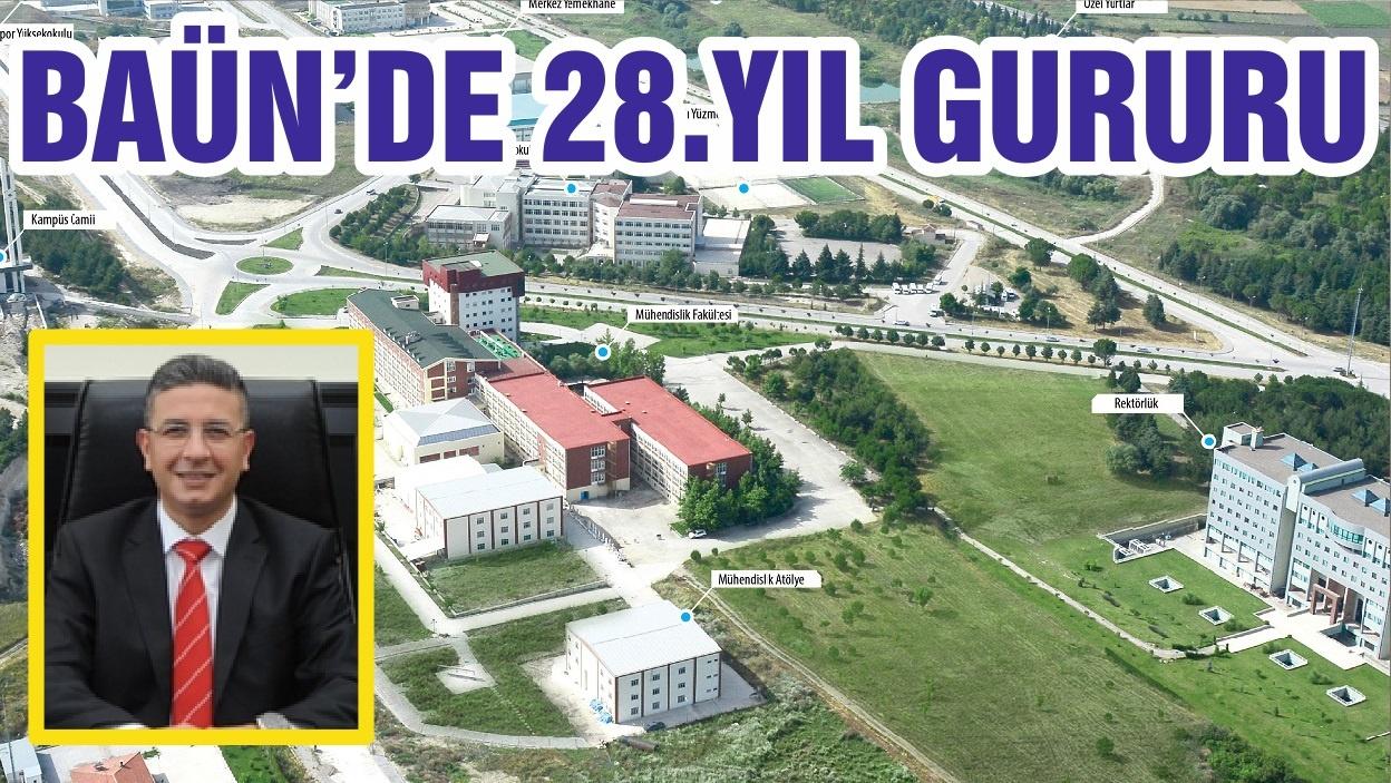 BALIKESİR ÜNİVERSİTESİ BAÜN'DE 28.YIL GURURU
