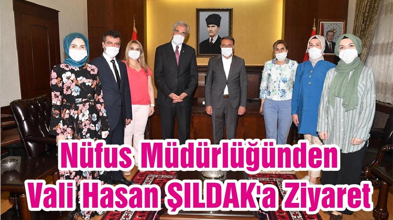 Nüfus Müdürlüğünden Vali Hasan Şıldak'a Ziyaret