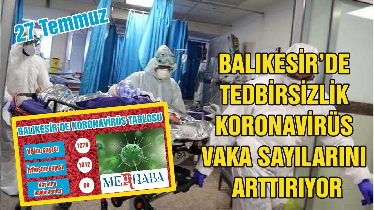 BALIKESİR'DE 26 TEMMUZ KORONAVİRÜS TABLOSU