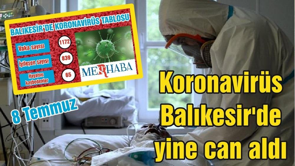 Koronavirüs Balıkesir'de yine can aldı