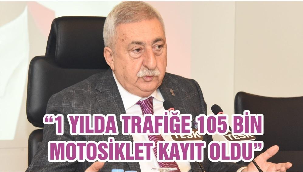 """1 YILDA TRAFİĞE 105 BİN MOTOSİKLET KAYIT OLDU"""