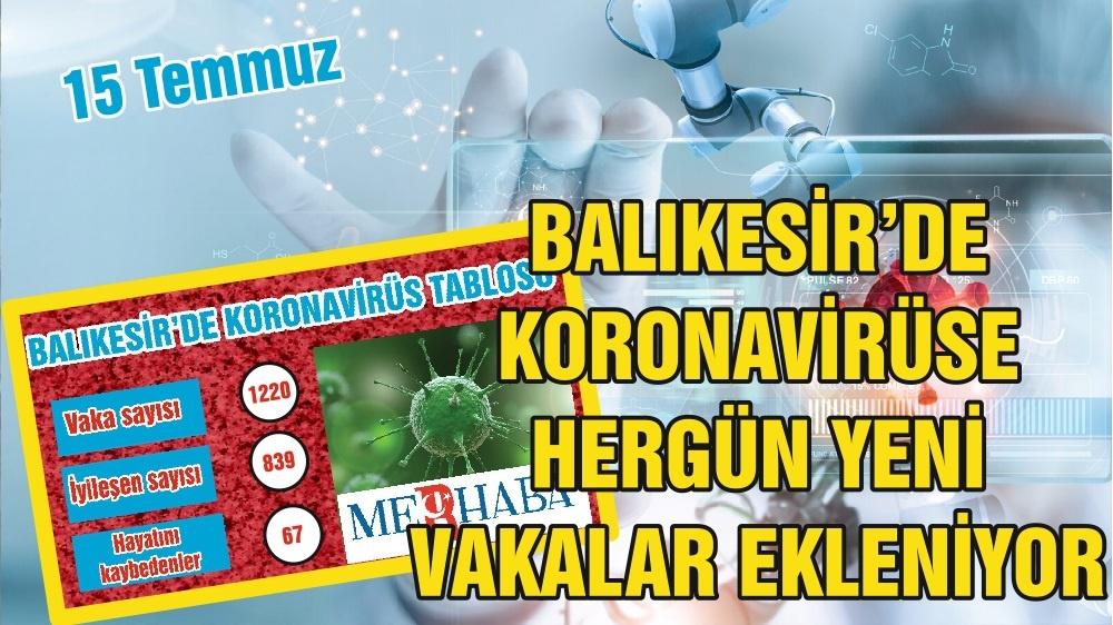 BALIKESİR'DE 15 TEMMUZ KORONAVİRÜS TABLOSU