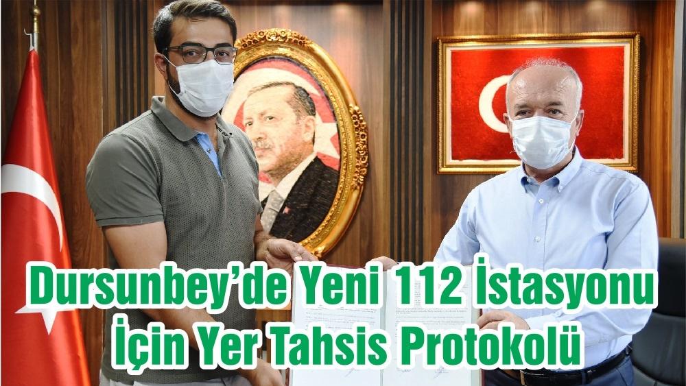 Dursunbey'de Yeni 112 İstasyonu İçin Yer Tahsis Protokolü