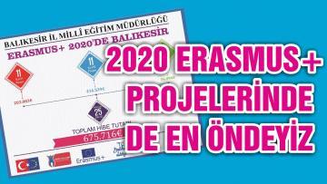 2020 ERASMUS+ PROJELERİNDE DE EN ÖNDEYİZ