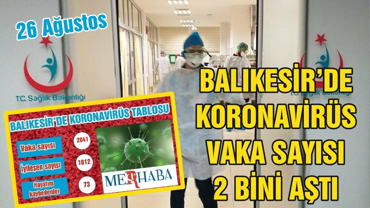 BALIKESİR'DE 25 AĞUSTOS KORONAVİRÜS TABLOSU