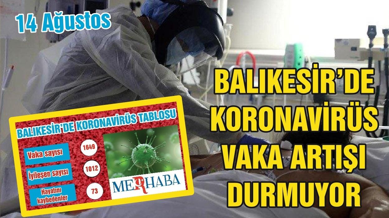 BALIKESİR'DE 14 AĞUSTOS KORONAVİRÜS TABLOSU