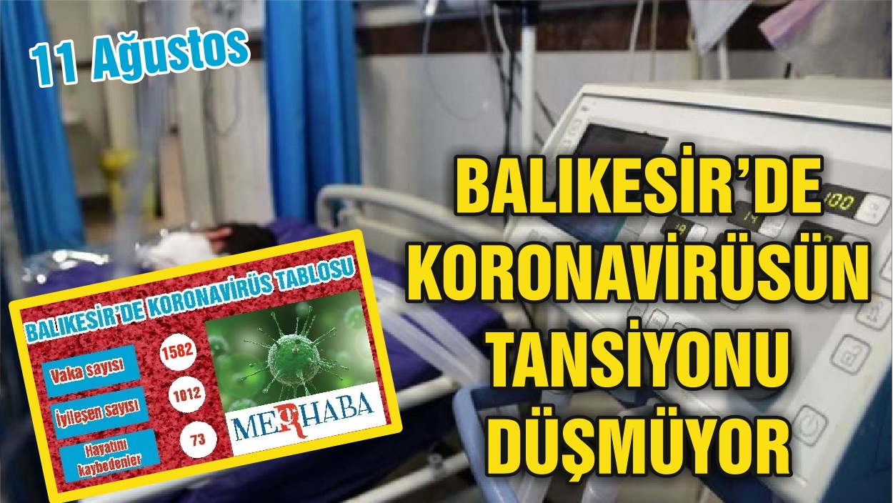 BALIKESİR'DE 11 AĞUSTOS KORONAVİRÜS TABLOSU