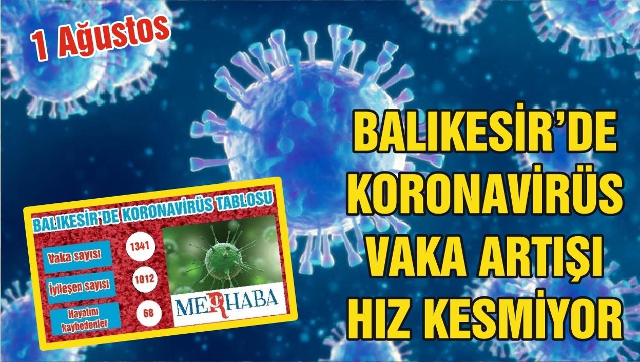 BALIKESİR'DE 1 AĞUSTOS KORONAVİRÜS TABLOSU