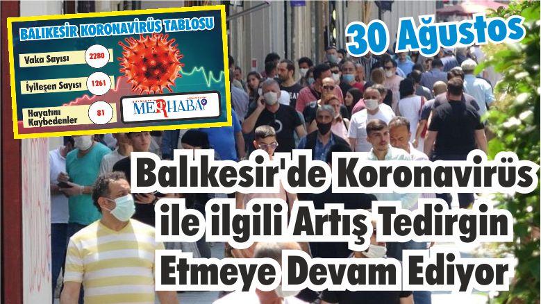 BALIKESİR'DE 30 AĞUSTOS KORONAVİRÜS TABLOSU