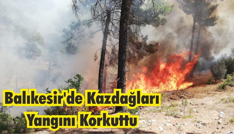 Balıkesir Kazdağları'nda ki Yangın Korkuttu