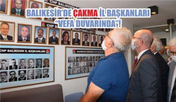 """BALIKESİR'DE ÇAKMA İL BAŞKANLARI """"VEFA DUVARINDA""""!"""