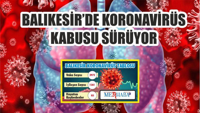 BALIKESİR'DE 12 EYLÜL KORONAVİRÜS TABLOSU