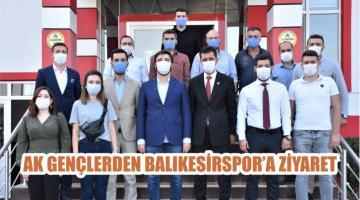 AK GENÇLERDEN BALIKESİRSPOR'A ZİYARET