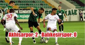 Akhisarpor: 2 – Balıkesirspor: 0