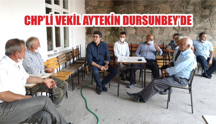 CHP'Lİ VEKİL AYTEKİN DURSUNBEY'DE