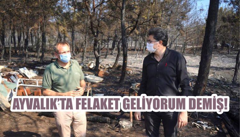 AYVALIK'TA FELAKET GELİYORUM DEMİŞ!