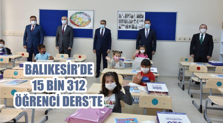BALIKESİR'DE 15 BİN 312 ÖĞRENCİ DERS'TE