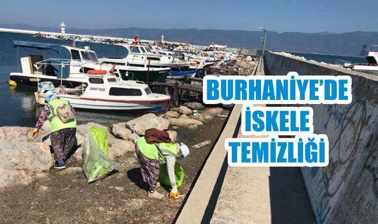 BURHANİYE'DE İSKELE TEMİZLİĞİ