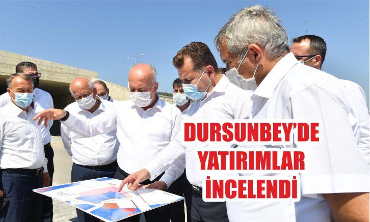 DURSUNBEY'DE YATIRIMLAR İNCELENDİ