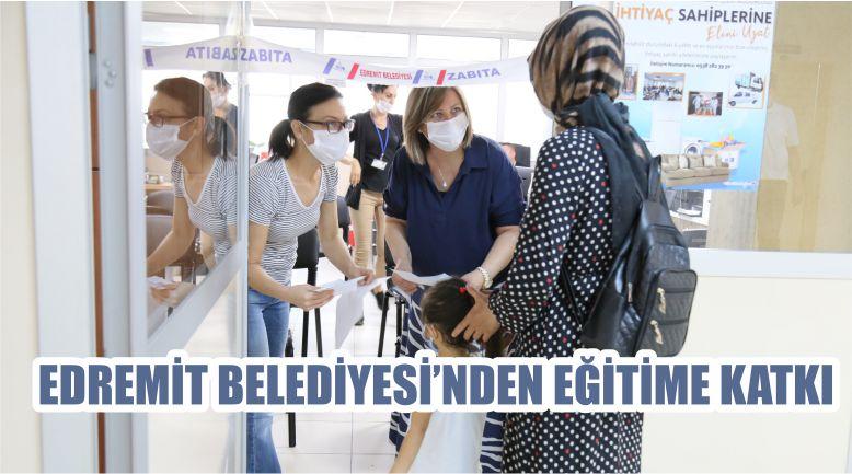 EDREMİT BELEDİYESİ'NDEN EĞİTİME KATKI