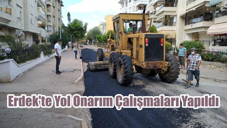 Erdek'te Yol Onarım Çalışmaları Yapıldı