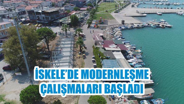 İSKELE'DE MODERNLEŞME ÇALIŞMALARI BAŞLADI