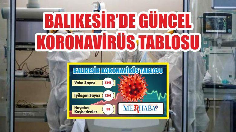 BALIKESİR'DE 20 EYLÜL KORONAVİRÜS TABLOSU