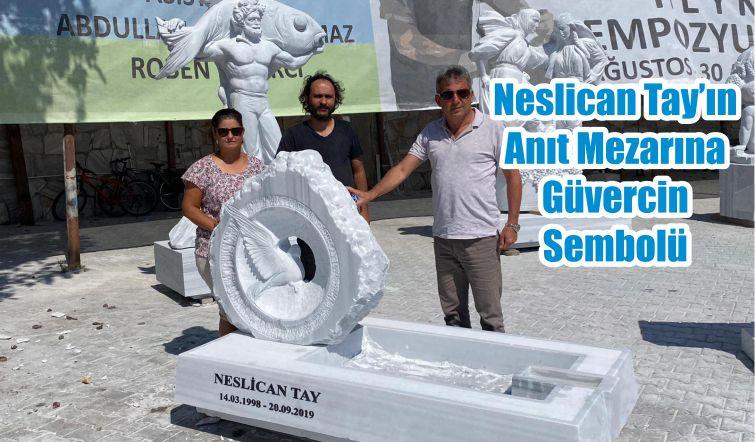 Neslican Tay'ın Anıt Mezarına Güvercin Sembolü
