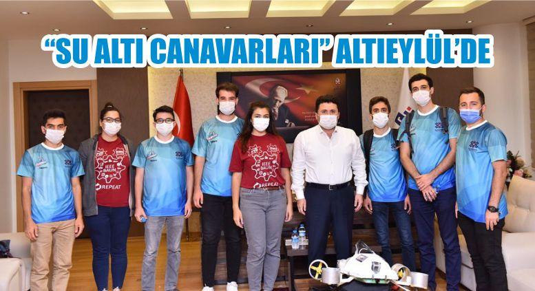 """""""SU ALTI CANAVARLARI"""" ALTIEYLÜL'DE"""