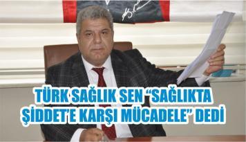 """TÜRK SAĞLIK SEN """"SAĞLIKTA ŞİDDET'E KARŞI MÜCADELE"""" DEDİ"""