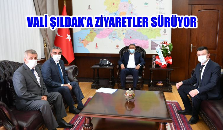 VALİ ŞILDAK'A ZİYARETLER SÜRÜYOR