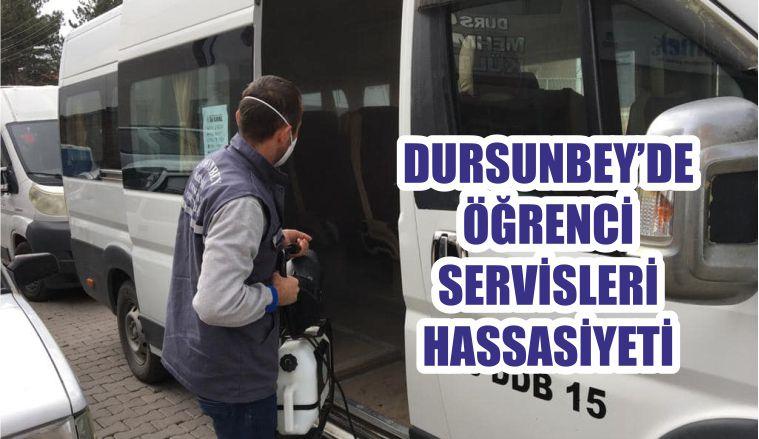 DURSUNBEY'DE ÖĞRENCİ SERVİSLERİ HASSASİYETİ