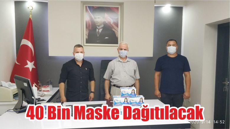 40 Bin Maske Dağıtılacak