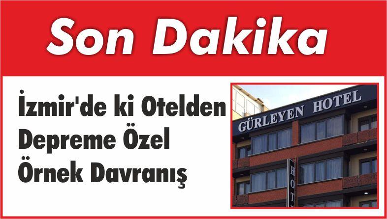 Depremi Yaşayan İzmir'de Örnek Davranış