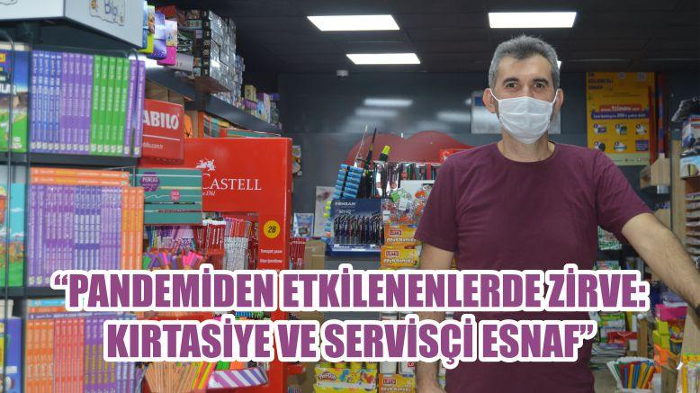 """""""PANDEMİDEN ETKİLENENLERDE ZİRVE: KIRTASİYE VE SERVİSÇİ ESNAF"""""""