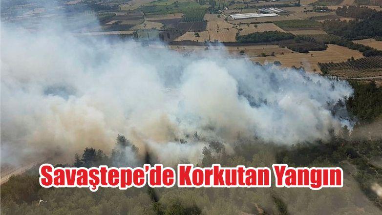 Savaştepe'de Korkutan Yangın
