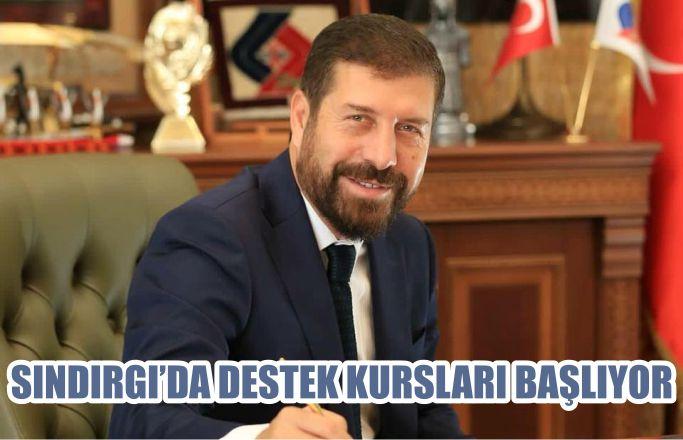 SINDIRGI'DA DESTEK KURSLARI BAŞLIYOR