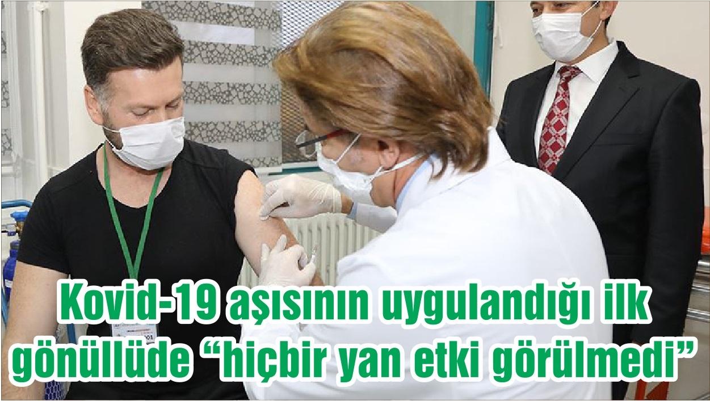"""Kovid-19 aşısının uygulandığı ilk gönüllüde """"hiçbir yan etki görülmedi"""""""