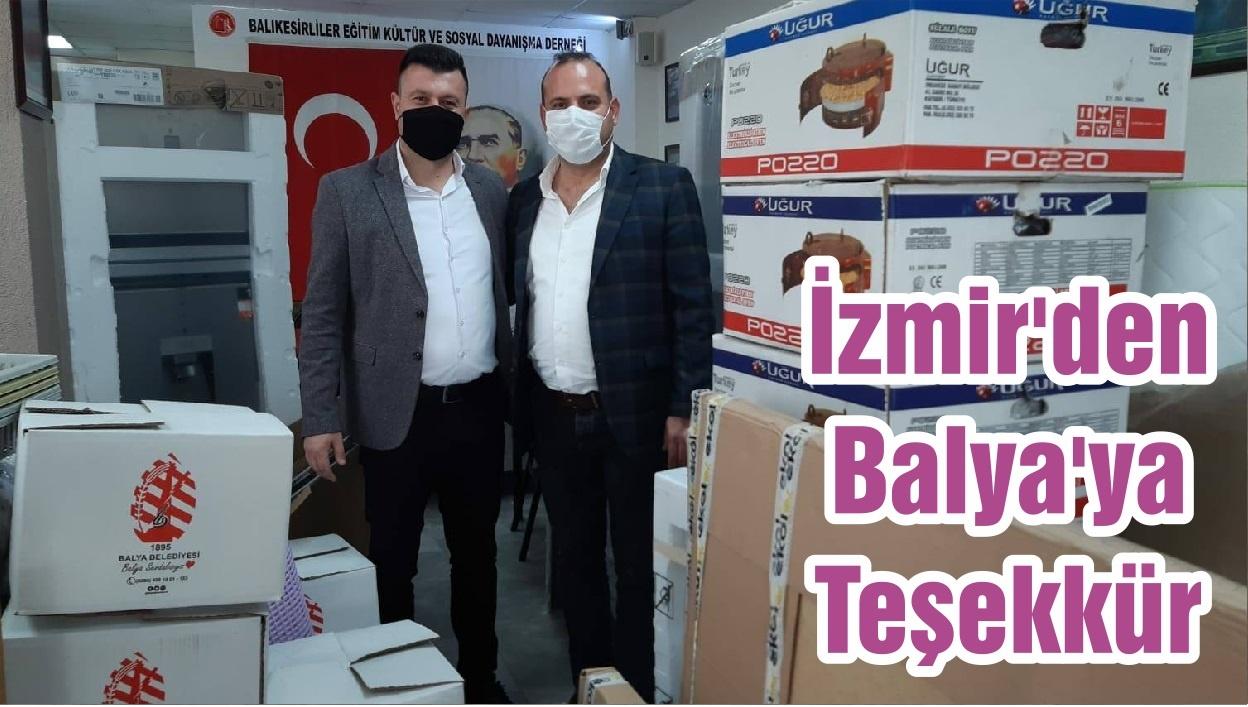 İzmir'den Balya'ya Teşekkür