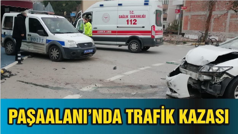 Paşaalanı'nda Trafik Kazası Ucuz Atlatıldı