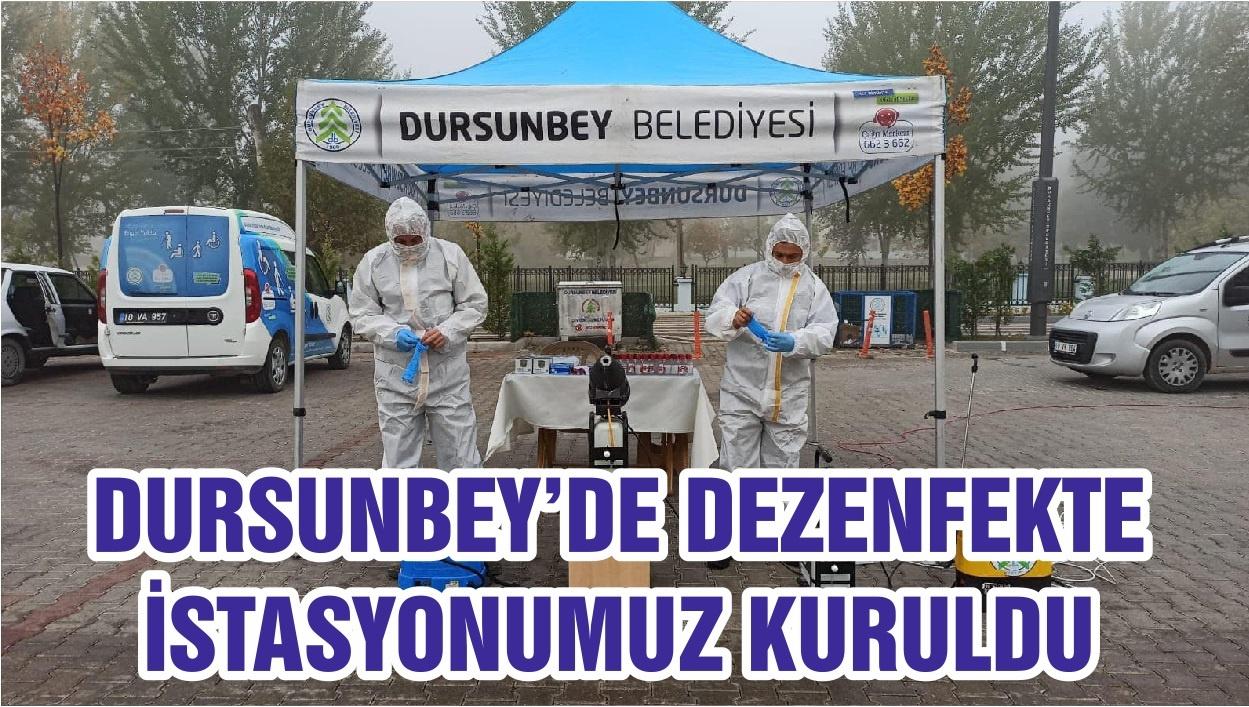 Dursunbey'de Dezenfekte İstasyonu Kuruldu