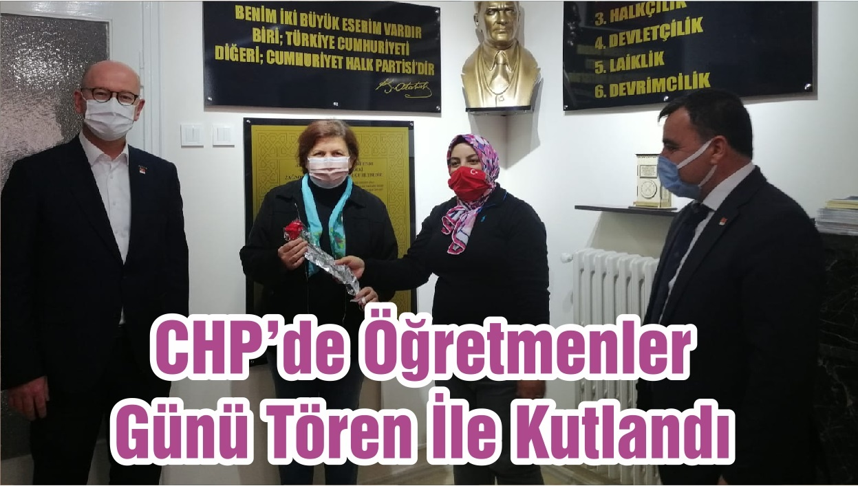 CHP'de Öğretmenler Günü Tören İle Kutlandı