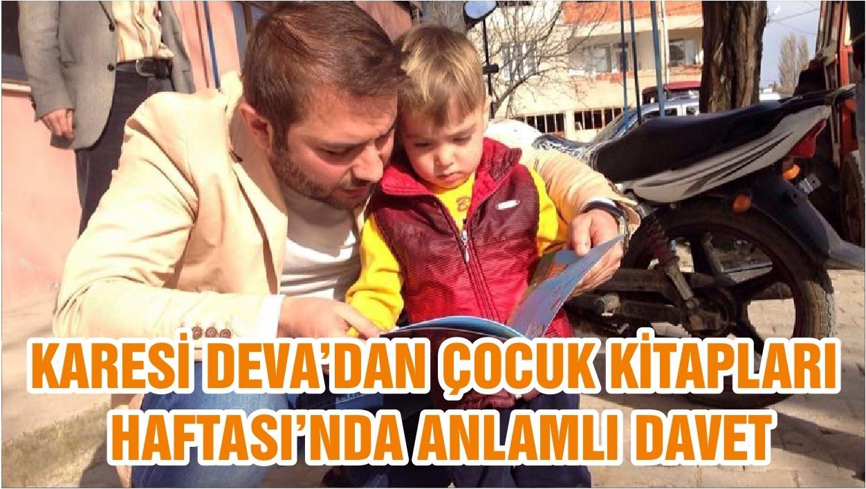 KARESİ DEVA'DAN ÇOCUK KİTAPLARI HAFTASI'NDA ANLAMLI DAVET