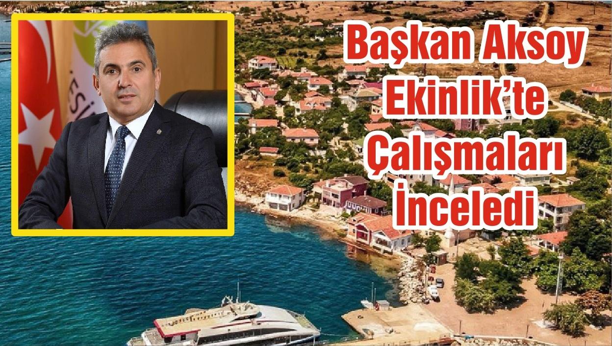 Başkan Aksoy Ekinlik'te Çalışmaları İnceledi
