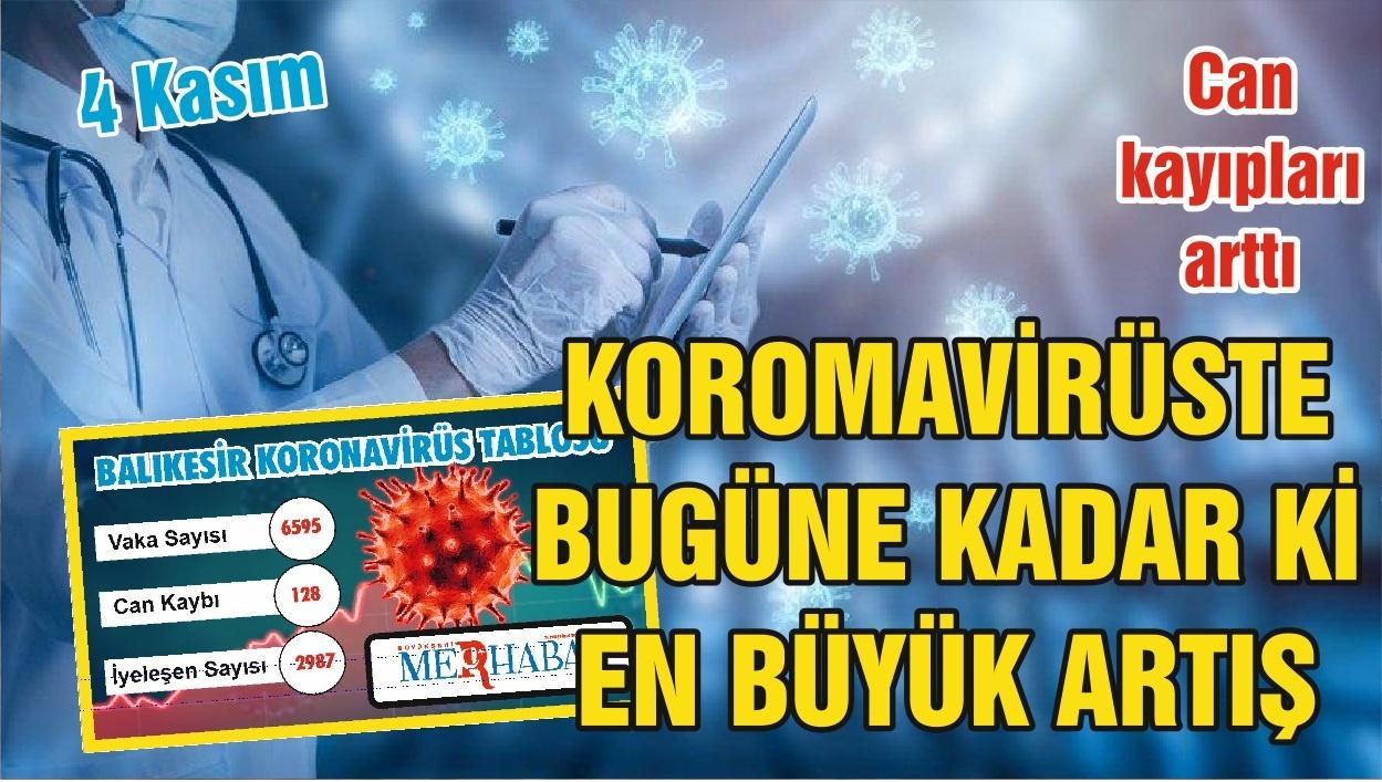 BALIKESİR'DE 4 KASIM KORONAVİRÜS TABLOSU