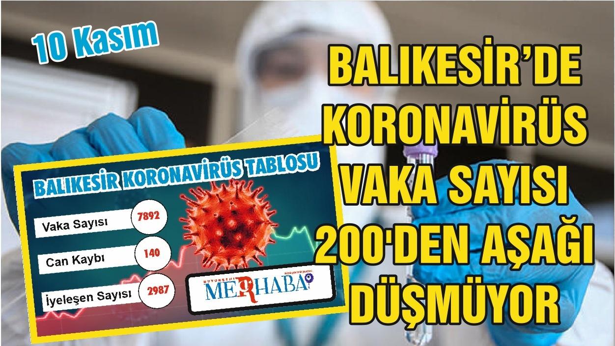 BALIKESİR'DE 10 KASIM KORONAVİRÜS TABLOSU