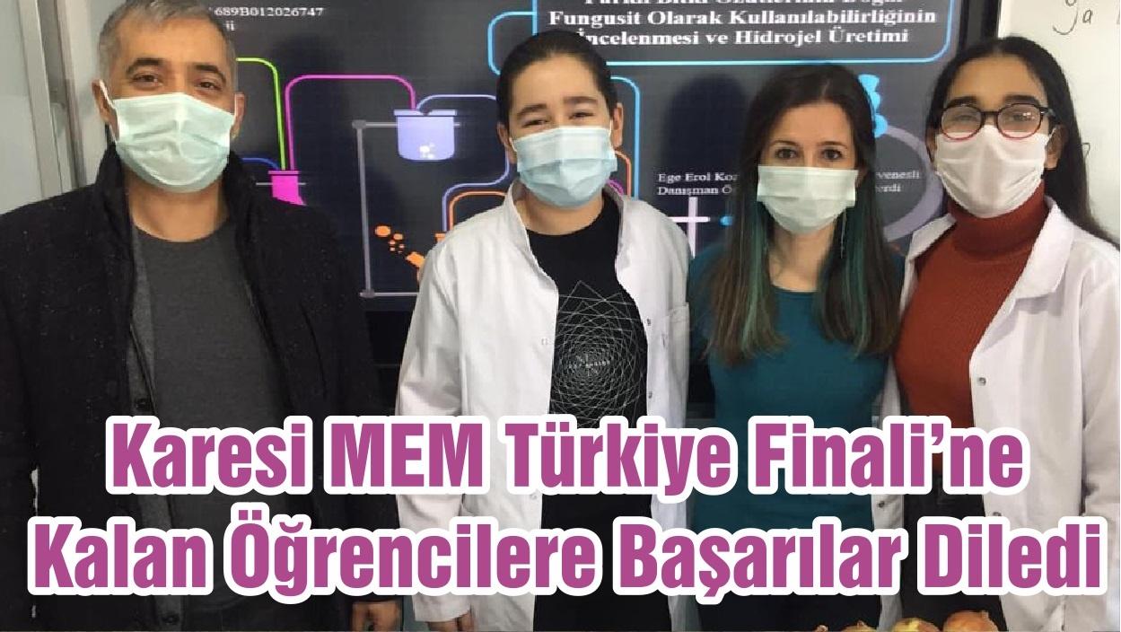 Karesi MEM Türkiye Finali'ne Kalan Öğrencilere Başarılar Diledi