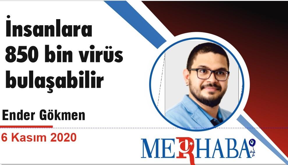 İnsanlara 850 bin virüs bulaşabilir