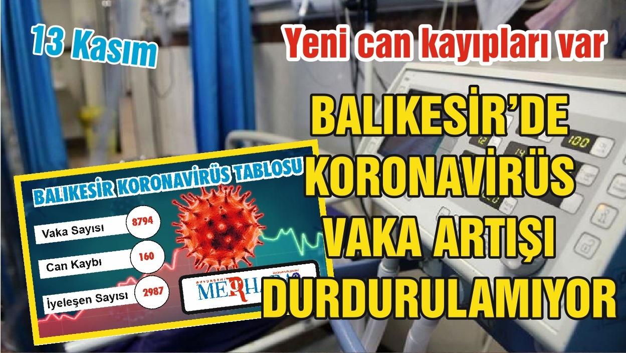 Balıkesir'de 13 Kasım Koronavirüs Tablosu
