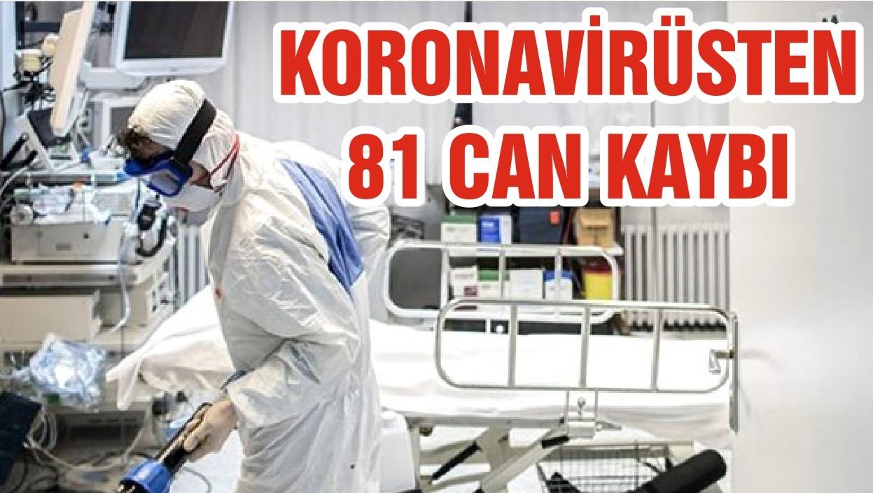 Koronavirüs nedeniyle 81 kişi vefat etti, 2311 yeni hasta tespit edildi